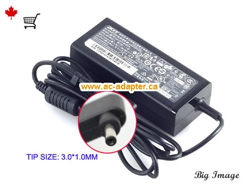 ASPIRE ONE CLOUDBOOK 11 AO1-131 Laptop AC Adapter, Canada 19V 2.37A ac adapter for  ASPIRE ONE CLOUDBOOK 11 AO1-131 Laptop