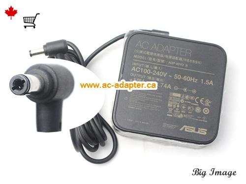A500VD Laptop AC Adapter, Canada 19V 4.74A ac adapter for  A500VD Laptop