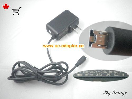 Canada EADP-15ZB B AC Adapter,  EADP-15ZB B Laptop AC Adapter 9V 1.67A