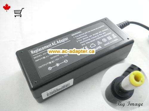 Canada PA-1600-05 AC Adapter,  PA-1600-05 Laptop AC Adapter 19V 3.16A