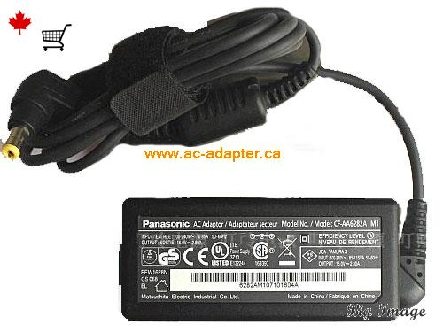 CF-AA62J2C M2 Laptop AC Adapter, Canada 16V 2.8A ac adapter for  CF-AA62J2C M2 Laptop