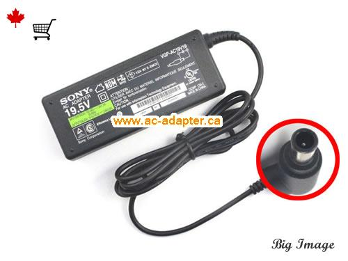 PCG-3F1M Laptop AC Adapter, Canada 19.5V 3.9A ac adapter for  PCG-3F1M Laptop