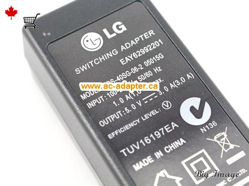 image 3 for  LG Lg 5V 3A Laptop Ac Adapter Laptop AC Adapter, Power Supply LG5V3A15W-NEW