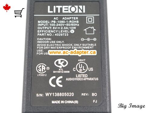 image 3 for  LITEON Liteon 5V 2A Laptop Ac Adapter Laptop AC Adapter, Power Supply LITEON5V2A10W-4.0x1.7mm-US
